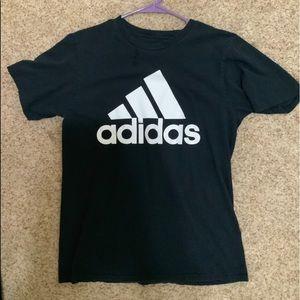 Men's adidas logo tee black like new